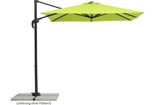 Schneider Schirme Sonnenschirm Rhodos Junior 230x230/8 apfelgrün