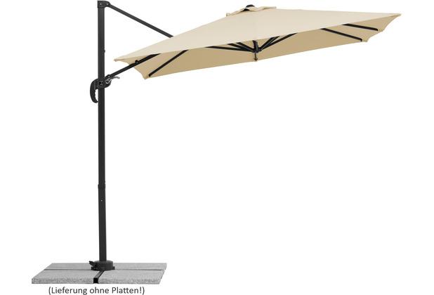 Schneider Schirme Sonnenschirm Rhodos Junior 230x230/8 natur