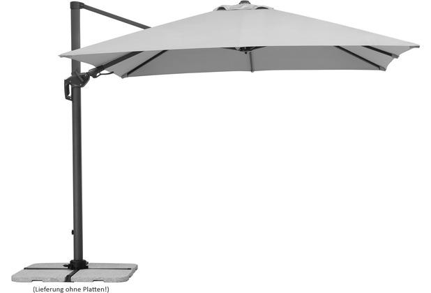 Schneider Schirme Sonnenschirm Rhodos Twist 300x300/8 silbergrau