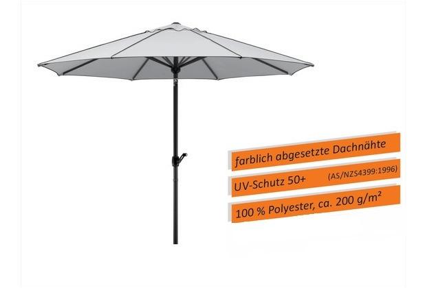 Schneider Schirme Sonnenschirm Adria silbergrau 350/8