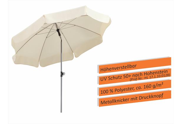 Schneider Schirme Sonnenschirm Locarno 200/8 natur