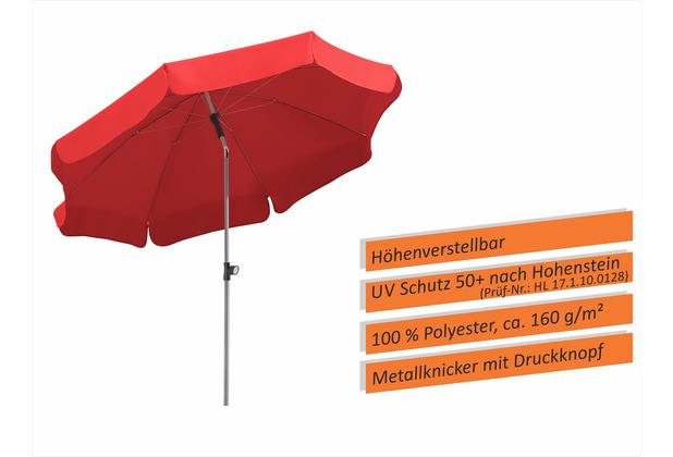 Schneider Schirme Sonnenschirm Locarno 200/8 rot