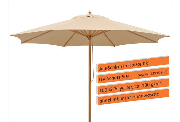 Schneider Schirme Sonnenschirm Malaga 300/8 natur