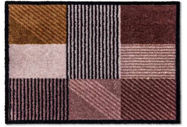 Schöner Wohnen Kollektion Fußmatte Manhattan D.006 C.016 Geomix Kastanie-rose 50x70 cm