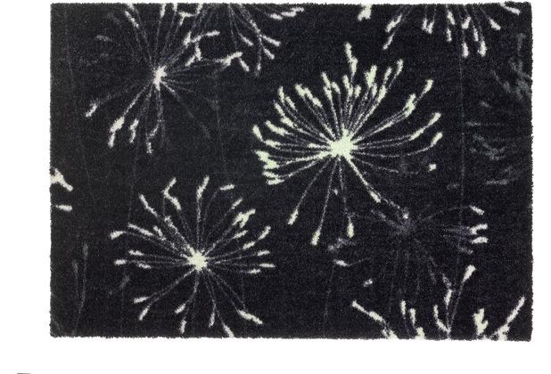 Schöner Wohnen Kollektion Fußmatte Manhattan Design 001, Farbe 044 Pusteblume anthrazit-mint 67 x 100 cm