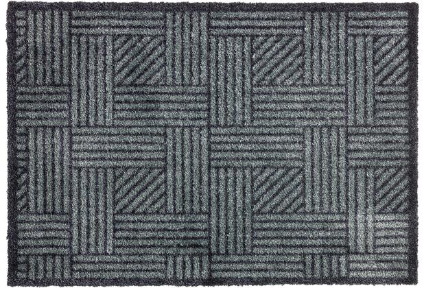 Schöner Wohnen Kollektion Fußmatte Manhattan Design 004, Farbe 040 Streifengitter anthrazit-grau 67 x 100 cm