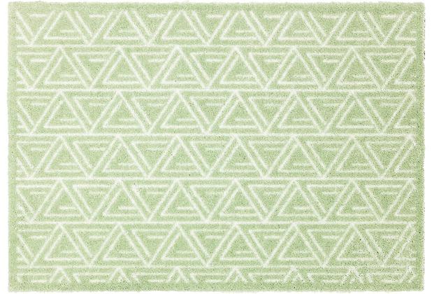Schöner Wohnen Kollektion Fußmatte Manhattan Design 005, Farbe 037 Triangle mint 67 x 100 cm