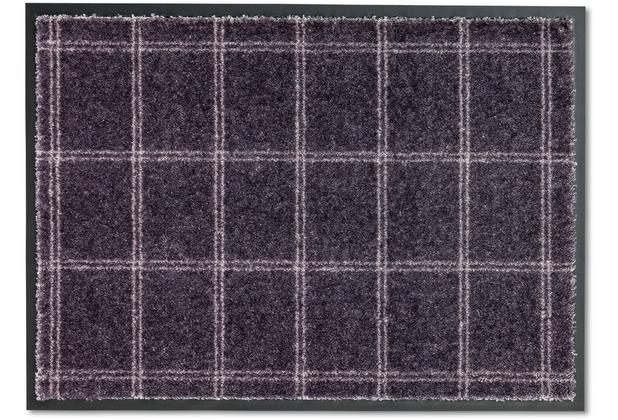 Schöner Wohnen Kollektion Fußmatte Miami D.005 C.042 Karo dunkelgrau 50x70 cm