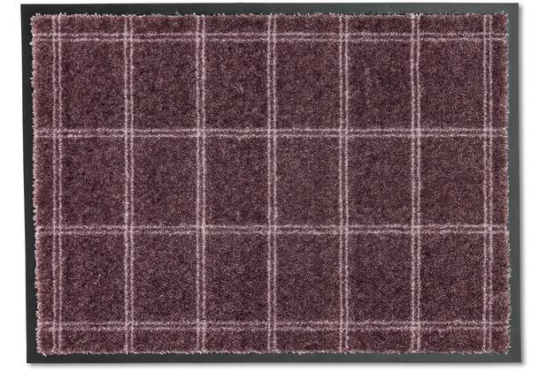 Schöner Wohnen Kollektion Fußmatte Miami D.005 C.083 Karo taupe-blush 50x70 cm
