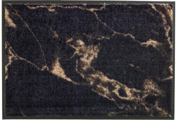 Schöner Wohnen Kollektion Fußmatte Miami Design 001, Farbe 044 Marmor anthrazit-taupe 67 x 100 cm