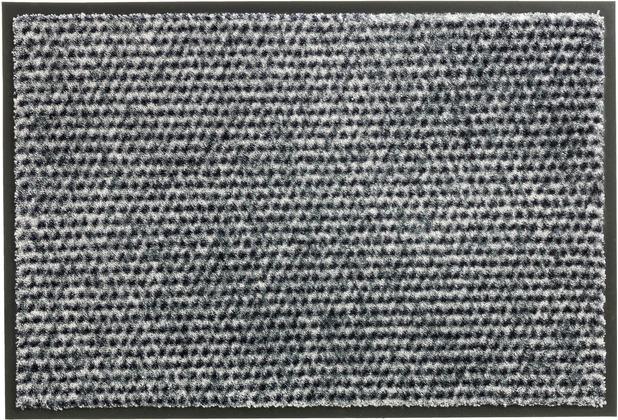 Schöner Wohnen Kollektion Fußmatte Miami Design 002, Farbe 004 Punkte silber 67 x 150 cm
