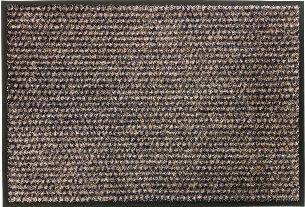 Schöner Wohnen Kollektion Fußmatte Miami Design 002, Farbe 044 Punkte anthrazit-taupe 67 x 100 cm