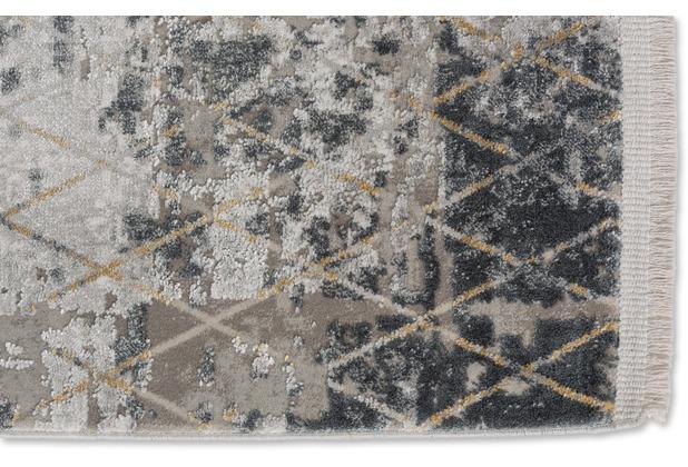 Schöner Wohnen Kollektion Schöner Wohnen Teppich Vision D.212 C.040 Rauten anthrazit 80x150cm