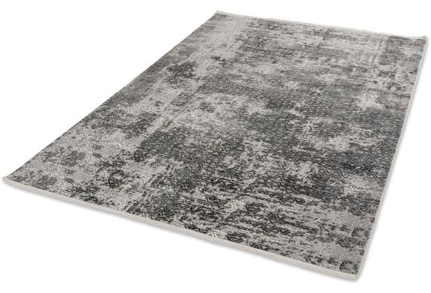 Schöner Wohnen Kollektion Teppich Vision D.213 C.040 Dreiecke anthrazit 80x150cm