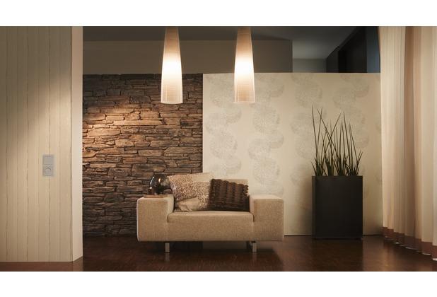 sch ner wohnen streifentapete mit glitter vliestapete beige creme metallic. Black Bedroom Furniture Sets. Home Design Ideas