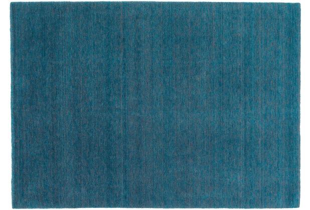 Schöner Wohnen Teppich Victoria Deluxe Design 170 Farbe 025 türkis/grau Wunschmaß
