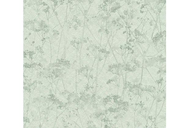 Schöner Wohnen Vliestapete Tapete grau grün 10,05 m x 0,53 m