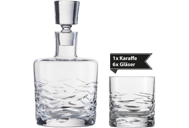 Schott Zwiesel Whisky Karaffe Basic Bar Selection quer + 6 Whisky Basic Bar Selection Gläser
