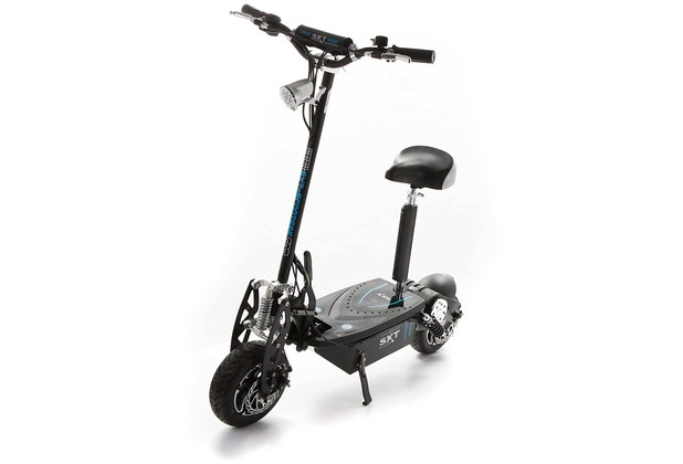 SXT-Scooters SXT1600 XL Elektro Scooter Modell mit 1600 Watt bürstenlosem Elektromotor schwarz Lithiumakku LiFePo4 48V 20Ah