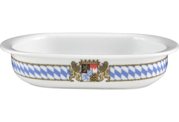 Seltmann Weiden Auflaufform oval 22 cm Compact Bayern 27110 blau, gelb, rot/rosa