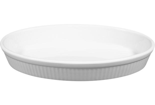 Seltmann Weiden Backform oval 24 cm Lukullus weiß uni 00006