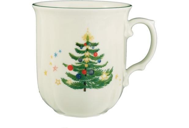 Seltmann Weiden Becher mit Henkel 0,25 l Marie Luise Weihnachten 43607 bunt, grün