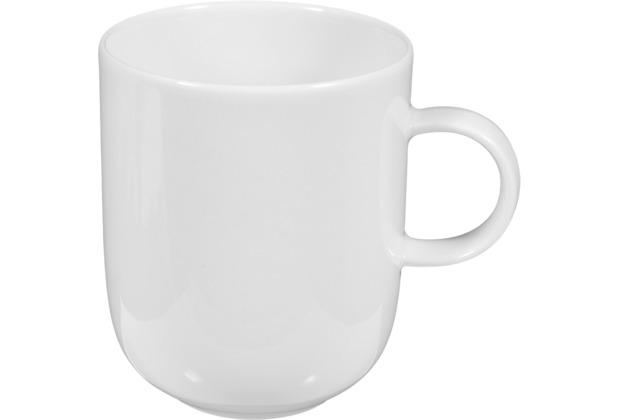 Seltmann Weiden Becher mit Henkel 0,25 l Sketch weiß uni 00003