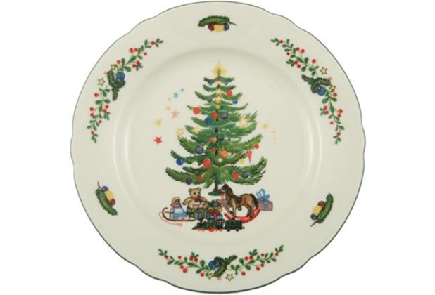 Seltmann Weiden Brotteller 17 cm Fahne Marie Luise Weihnachten 43607 bunt, grün