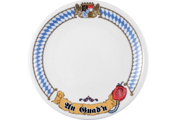 Seltmann Weiden Frühstücksteller 20 cm Fahne Compact Bayern 27110 blau, gelb, rot/rosa