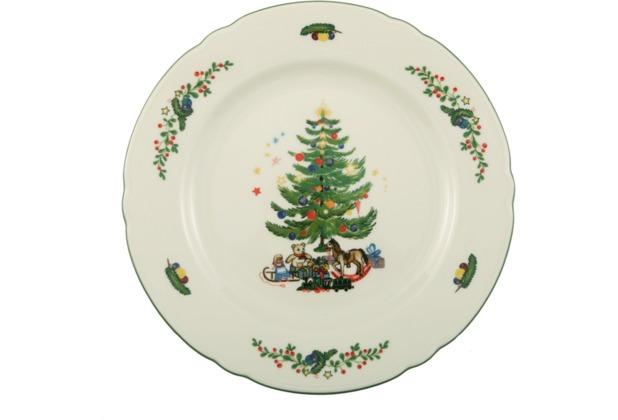 Seltmann Weiden Frühstücksteller 20 cm Fahne Marie Luise Weihnachten 43607 bunt, grün