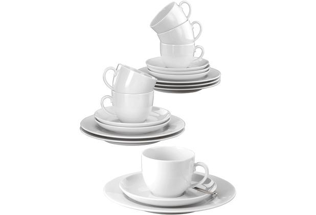 Seltmann Weiden Kaffeeservice 18-teilig Rondo Uni 7