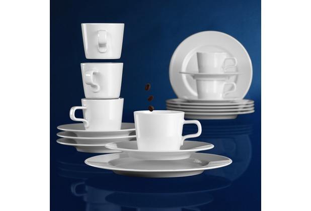 Seltmann Weiden Kaffeeservice 18-tlg. NL No Limits weiß uni 00003