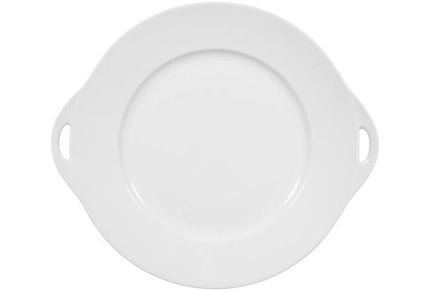 Seltmann Weiden Kuchenplatte rund mit Griff 30x27 cm Rondo/Liane