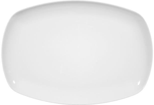 Seltmann Weiden Platte eckig 31 cm Sketch weiß uni 00003