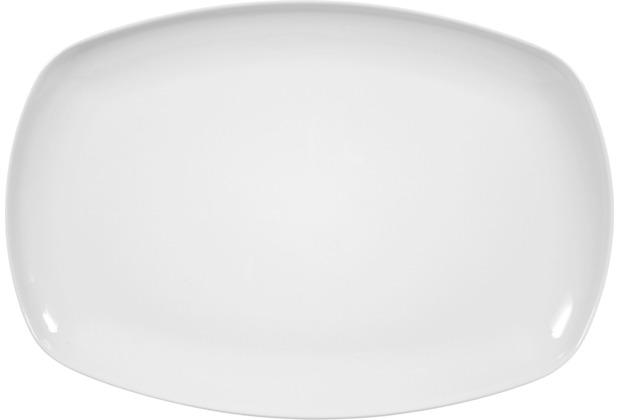 Seltmann Weiden Platte eckig 35 cm Sketch weiß uni 00003