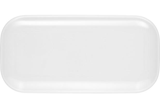 Seltmann Weiden Platte eckig 5301 24 cm x 12 cm No Limits weiß uni 00003