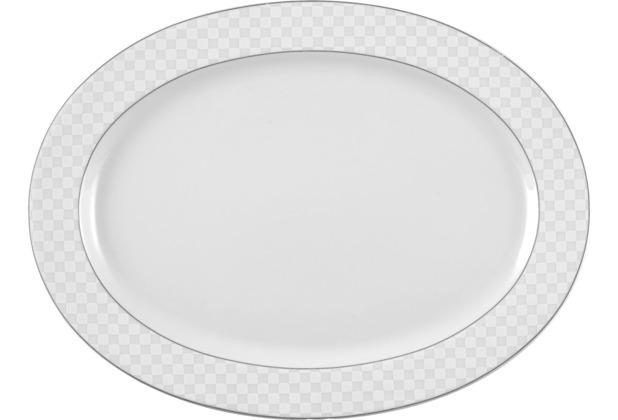 Seltmann Weiden Platte oval 31 cm Holiday Palm Beach 20799 grau, schwarz