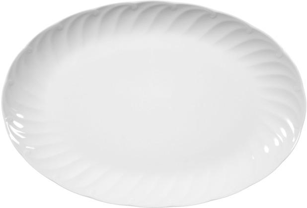 Seltmann Weiden Platte oval 31 cm Leonore weiß uni 7