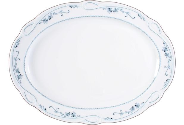 Seltmann Weiden Platte oval 35 cm Desiree Aalborg 44935 blau