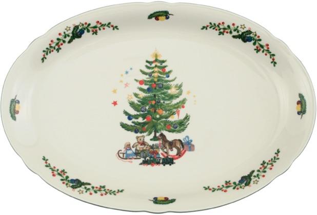 Seltmann Weiden Platte oval 35 cm Marie Luise Weihnachten 43607 bunt, grün