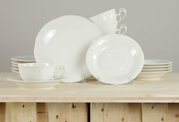 Seltmann Weiden Rubin Teeservice für 6 Personen 18-teilig