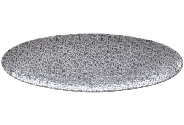Seltmann Weiden Servierplatte schmal 35x12 cm Fashion elegant grey 25675