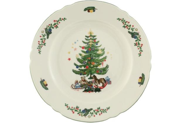 Seltmann Weiden Speiseteller 25 cm Fahne Marie Luise Weihnachten 43607 bunt, grün