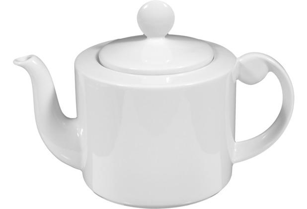 Seltmann Weiden Teekanne 6 Personen Holiday weiß uni 00003