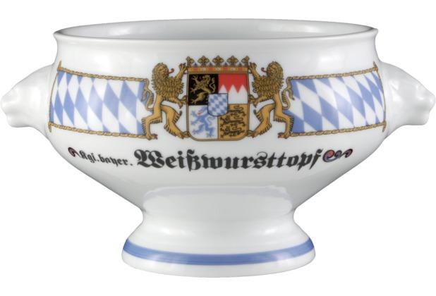 Seltmann Weiden Terrine Löwenkopf ohne Deckel 1,00 l Compact Bayern 27110 blau, gelb, rot/rosa