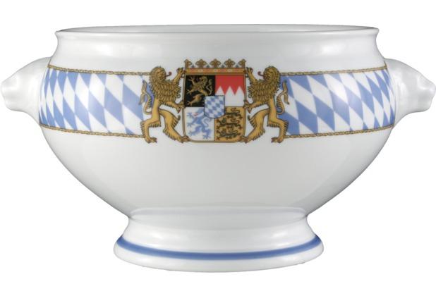 Seltmann Weiden Terrine Löwenkopf ohne Deckel 3,00 l Compact Bayern 27110 blau, gelb, rot/rosa