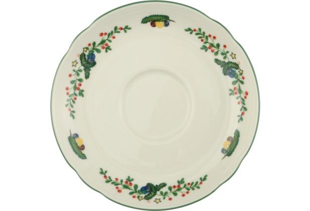 Seltmann Weiden Untere zur Teetasse 13 cm Marie Luise Weihnachten 43607 bunt, grün