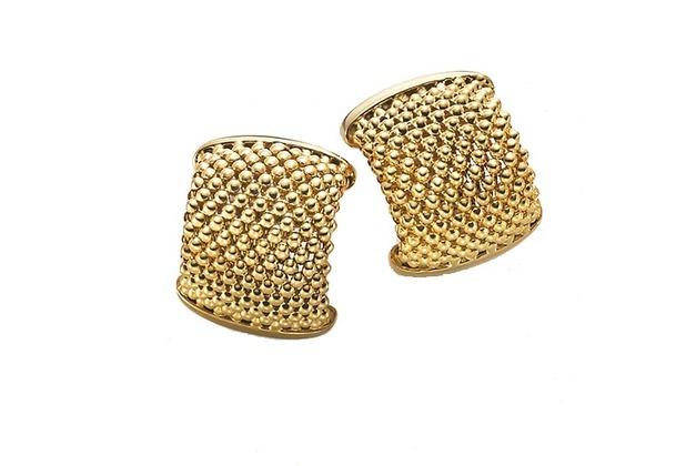 Shinatic Creolen 585 Gold mit Sicherheitsklappverschluss gold