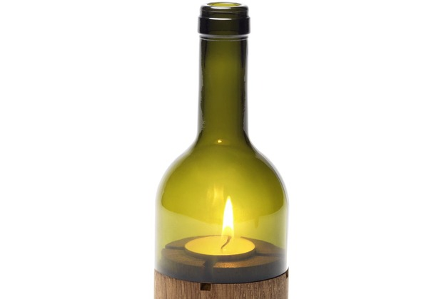 """side by side Ersatzglas für das Windlicht \""""WeinLicht grün\"""""""