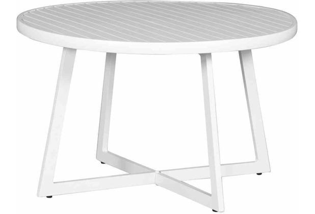 Siena Garden Alexis Lounge Tisch Ø 70x55 cm weiß